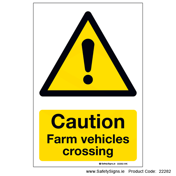 Farm Vehicles Crossing - 22282