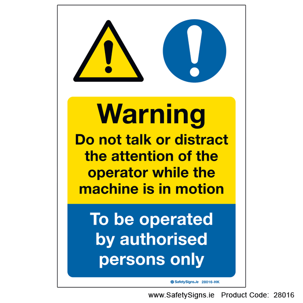 Do not Distract Operator - 28016