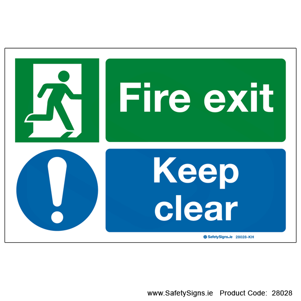 Fire Exit Keep Clear - 28028
