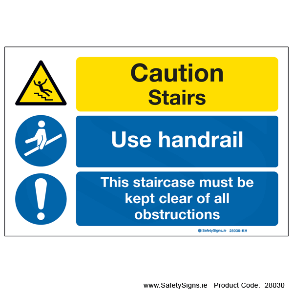 Stairs Use Handrail - 28030