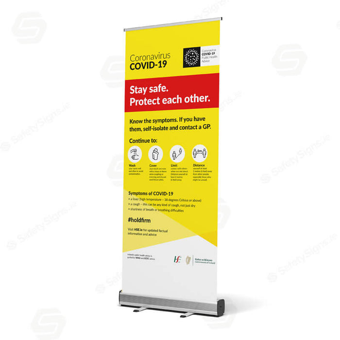 Stay Safe - Holdfirm - HSE - Pullup Banner - 62074