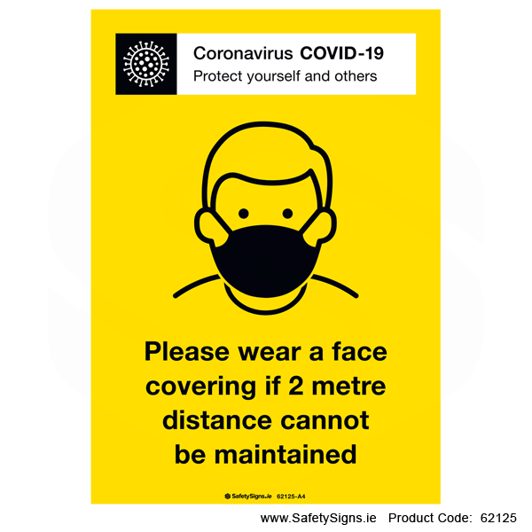 Covid-19 Wear Face Covering - 62125
