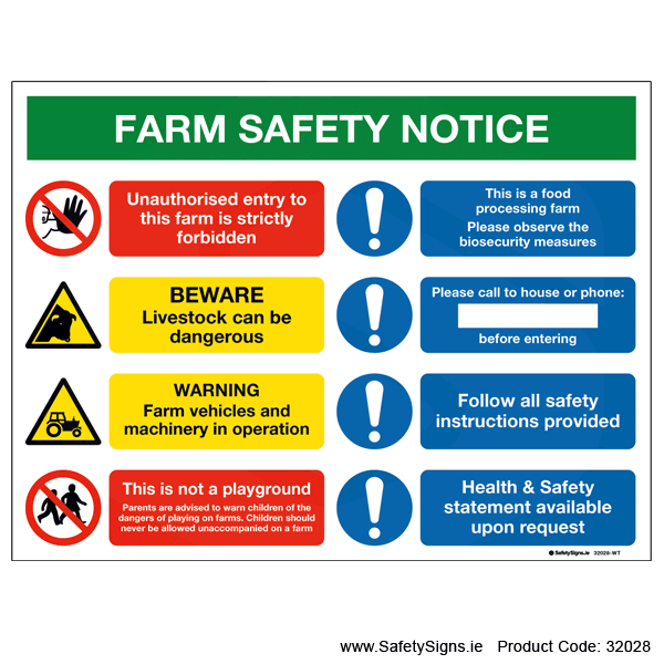 Farm Safety Notice - 32028