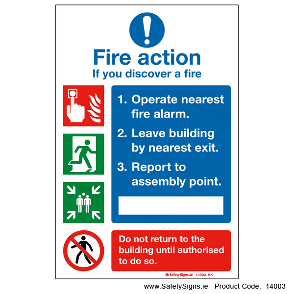 Fire Action - 14003