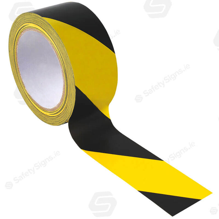 Yellow Black Hazard Tape 50mm x 33m (Roll) - 78001