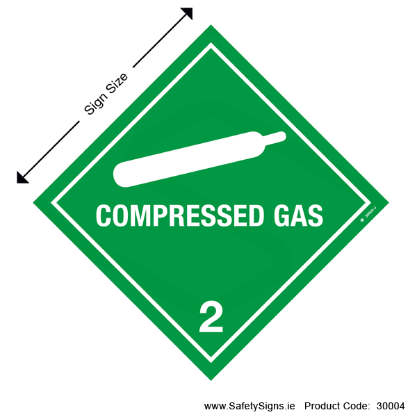 Class 2.2 - Compressed Gas - 30004