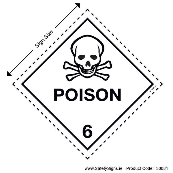 Class 6.1 - Poison - Toxic Substances - 30081