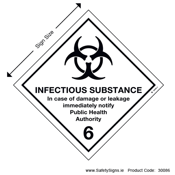 Class 6.2 - Infectious Substance - 30086