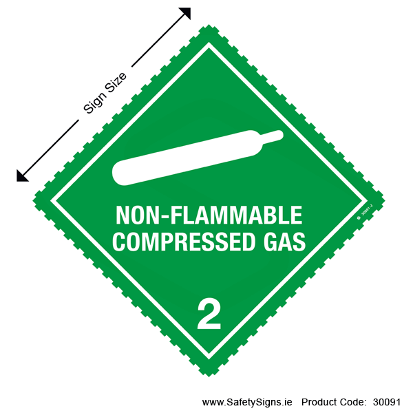 Class 2.2 - Non-Flammable Compressed Gas - 30091