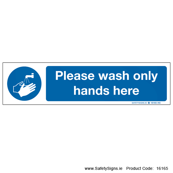 Wash Hands Here - 16165