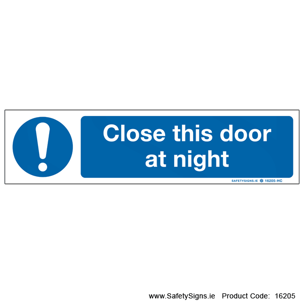 Close This Door at Night - 16205