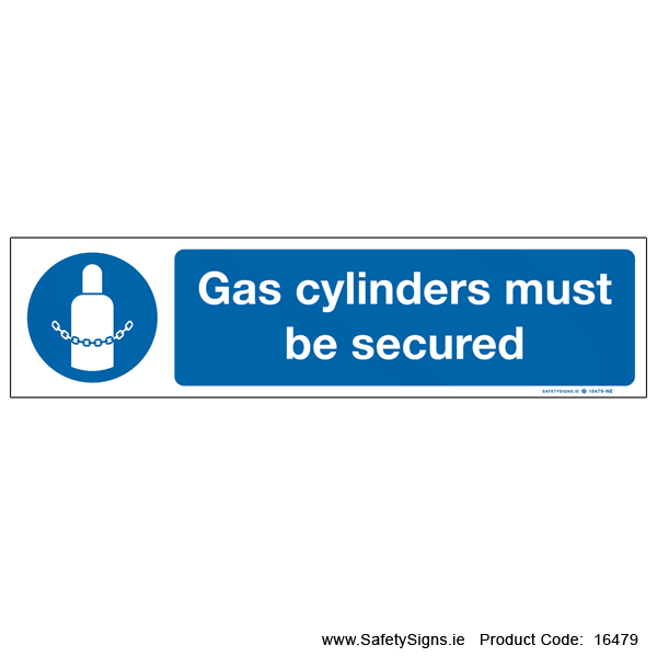 Gas Cylinders must be Secured - 16479