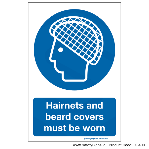 Wear Hairnets and Beard Covers - 16490