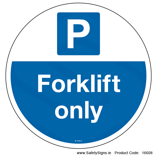 Forklift Only - FloorSign (Circular) - 16608