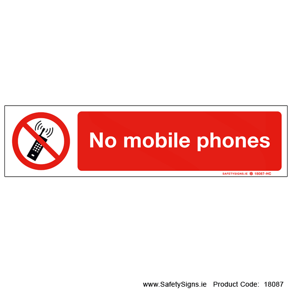 No Mobile Phones - 18087