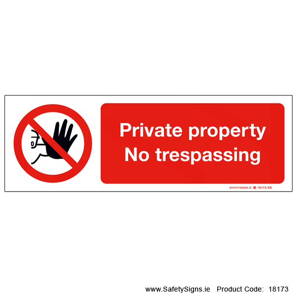Private Property - 18173