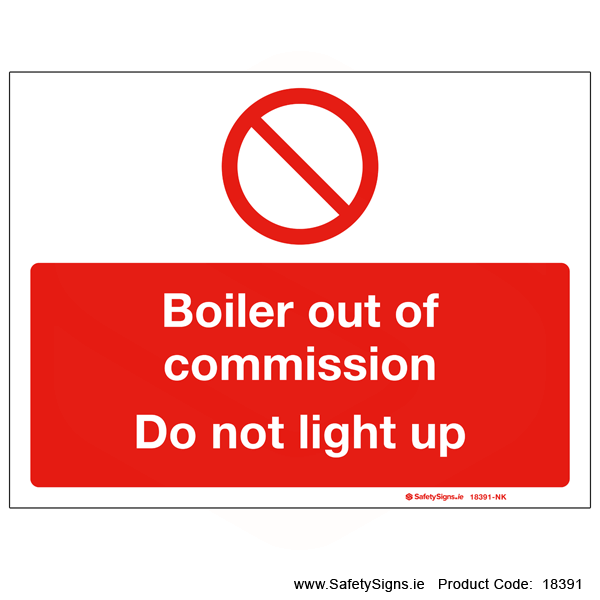 Boiler out of Commission - 18391