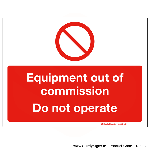 Equipment out of Commission - 18396