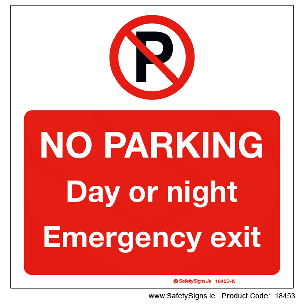 No Parking Day or Night - 18453