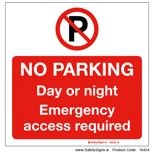 No Parking Day or Night - 18454
