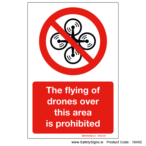 Flying of Drones Prohibited - 18492