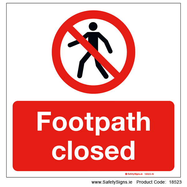 Footpath Closed - 18523