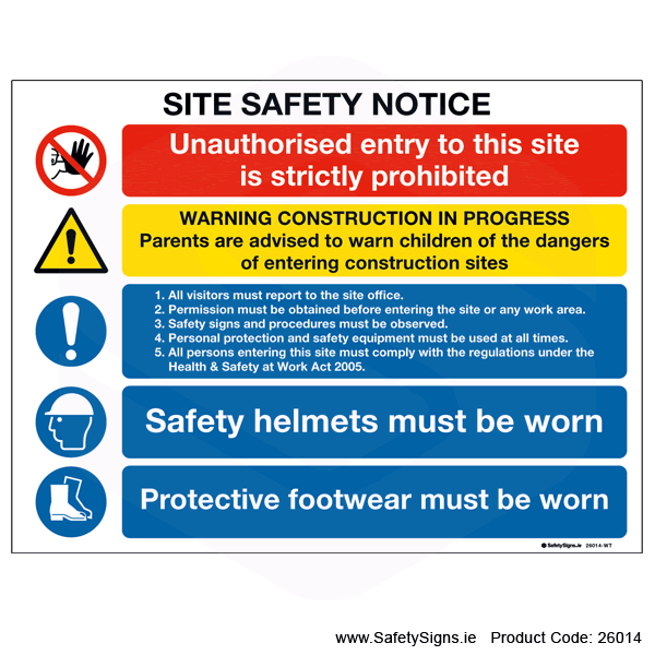 Site Safety Notice - 26014