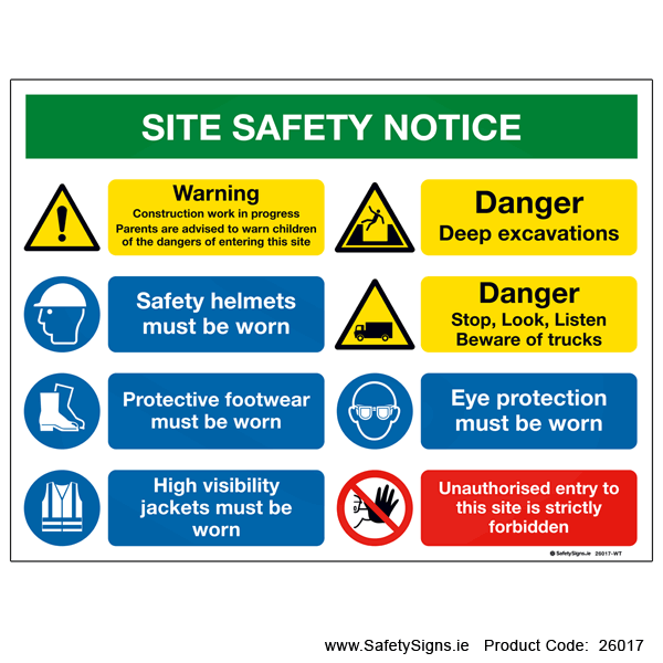 Site Safety Notice - 26017