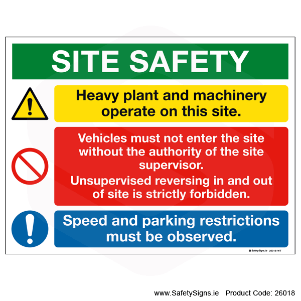 Site Safety Notice - 26018