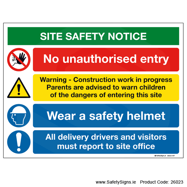 Site Safety Notice - 26023