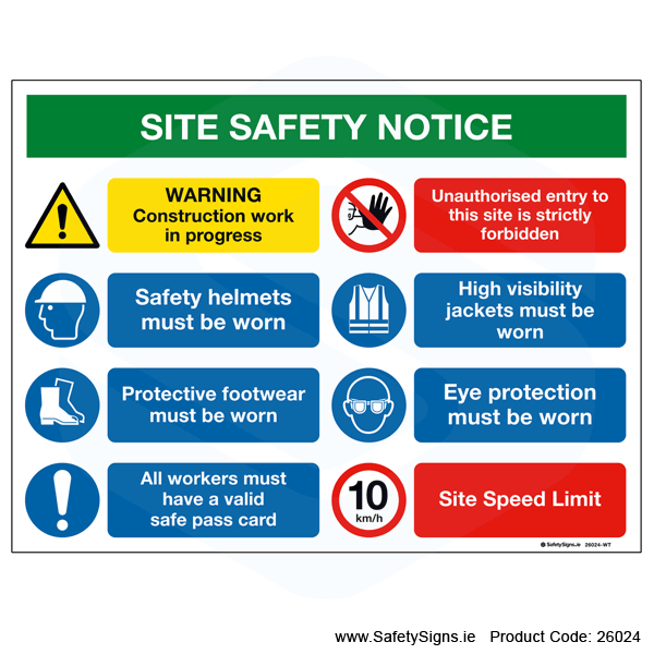 Site Safety Notice - 26024