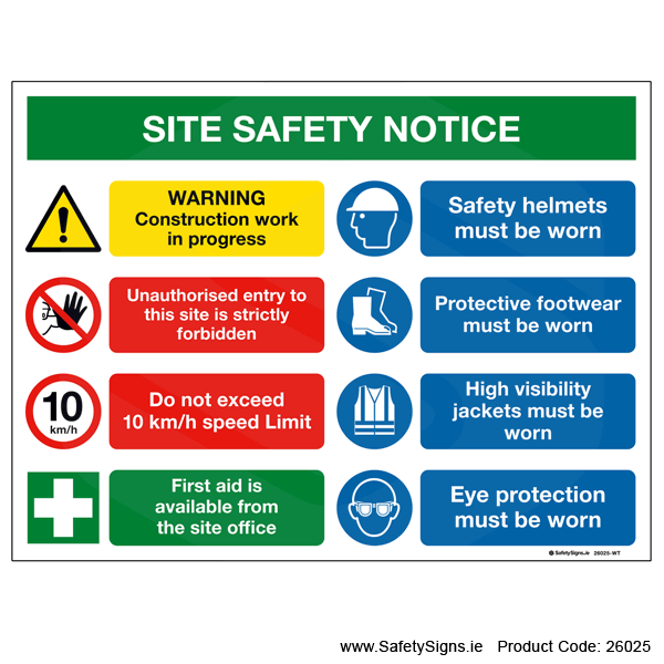 Site Safety Notice - 26025