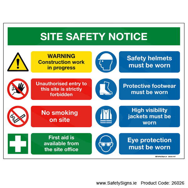 Site Safety Notice - 26026