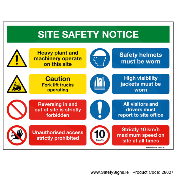 Site Safety Notice - 26027