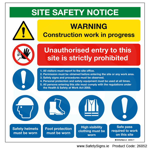 Site Safety Notice - 26052