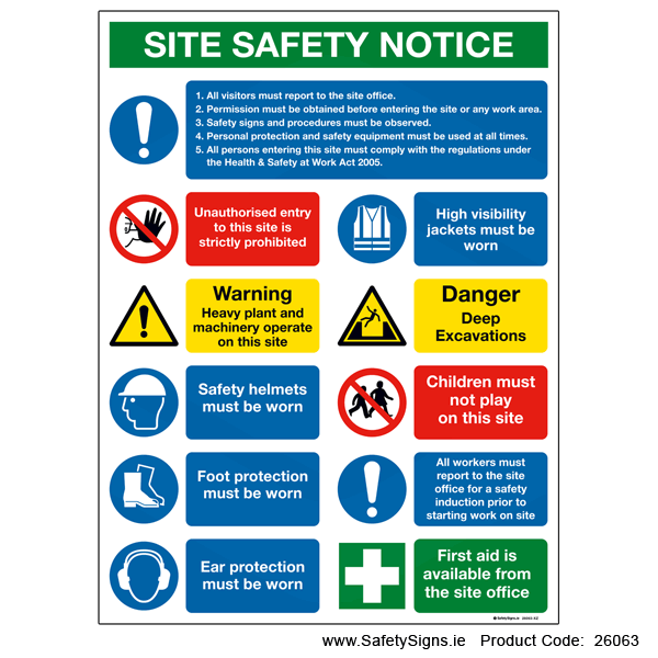 Large Site Safety Notice - 26063