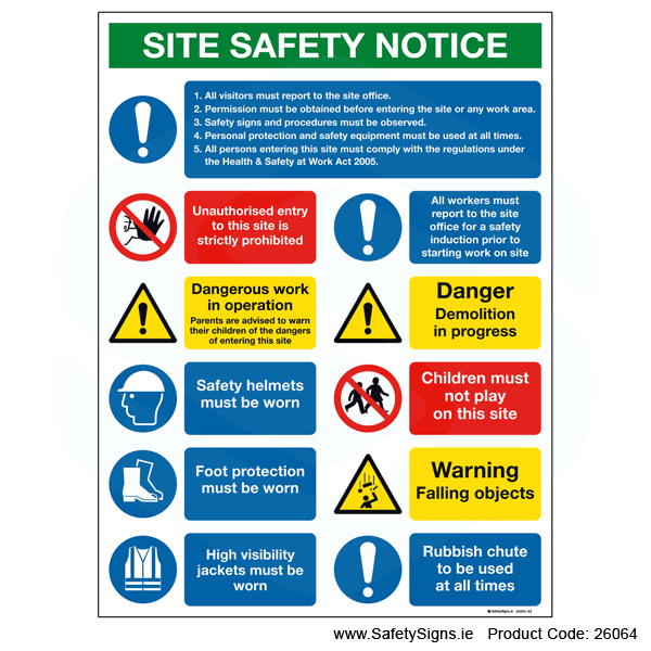 Large Site Safety Notice - 26064
