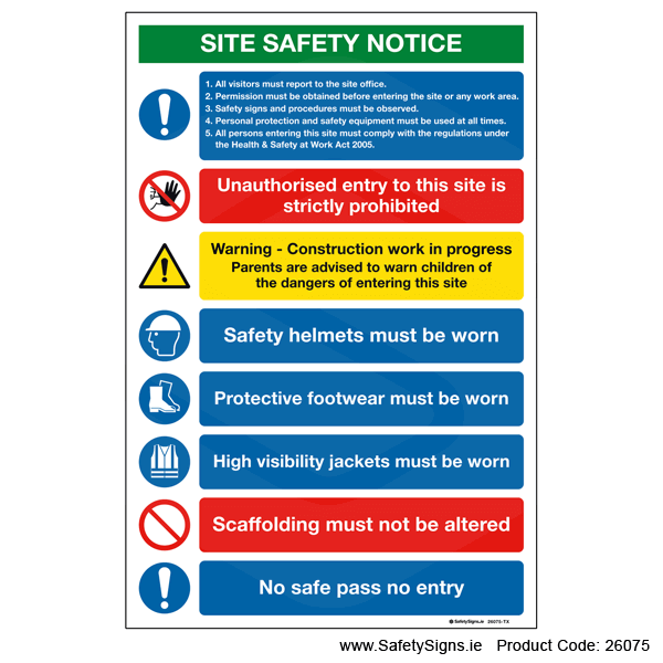 Site Safety Notice - 26075