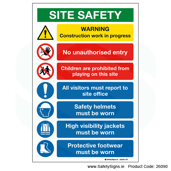 Site Safety Notice - 26090