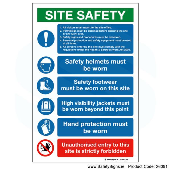 Site Safety Notice - 26091