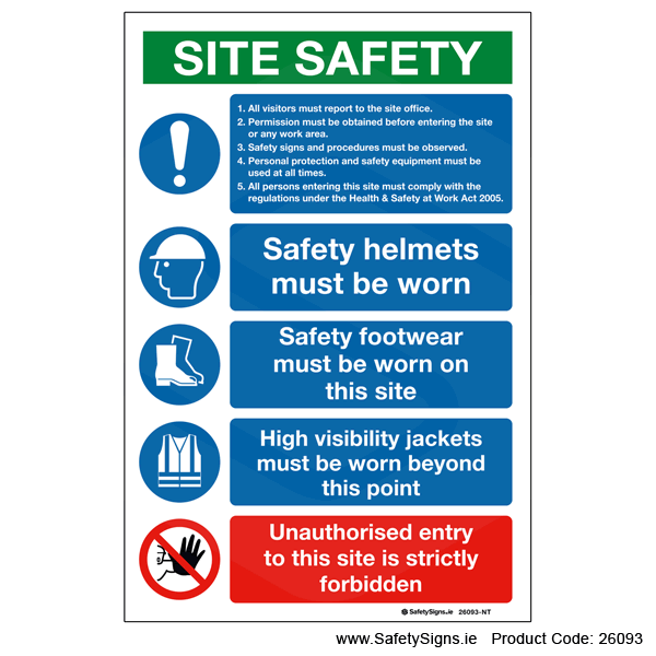 Small Site Safety Notice - 26093