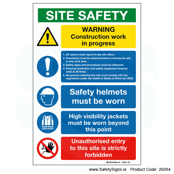 Small Site Safety Notice - 26094