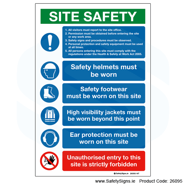Small Site Safety Notice - 26095