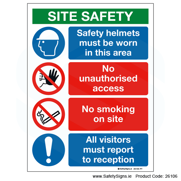 Small Site Safety Notice - 26106