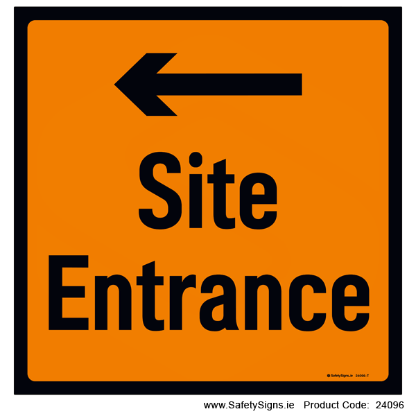 Site Entrance - Arrow Left - 24096