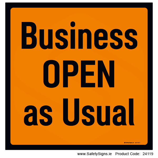 Business Open as Usual - 24119