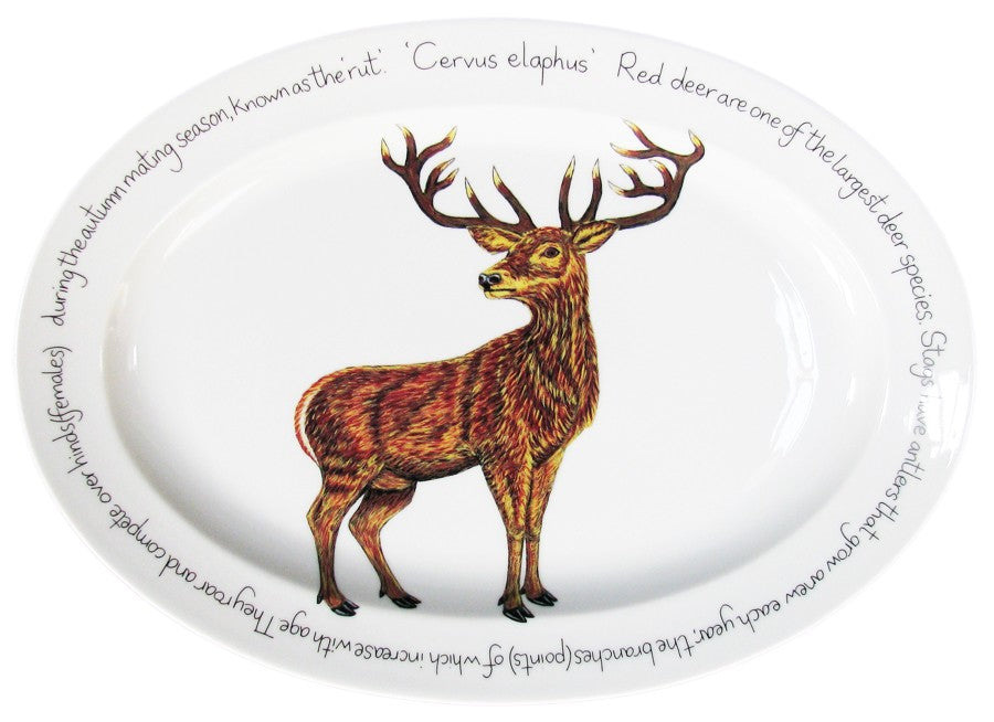 Richard Bramble 39cm Oval Stag Platter