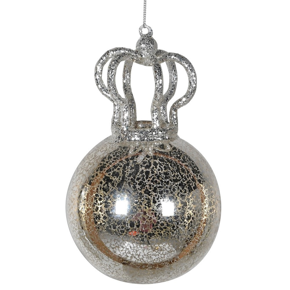 Glass Bauble with Crown