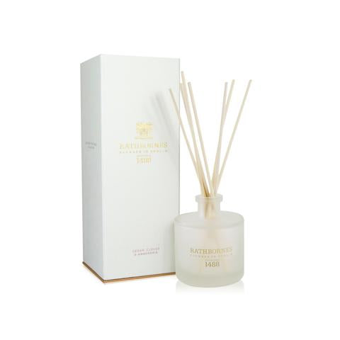 RATHBORNES - CEDAR, CLOVES & AMBERGRIS SCENTED REED DIFFUSER/REFILL
