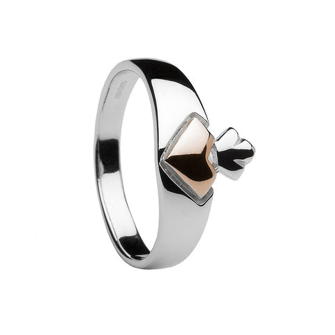 House Of Lor - CLADDAGH Ring in Sterling Silver & Rose gold